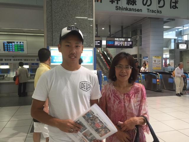Konosuke カナダへ! 一年間やり残すことがないくらいに頑張って! 帰国後に会えるのを楽しみにしています!