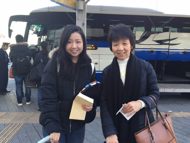 Naru お母さんと静岡駅にて!