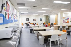 The canteen / common area at the Embassy Melbourne school.