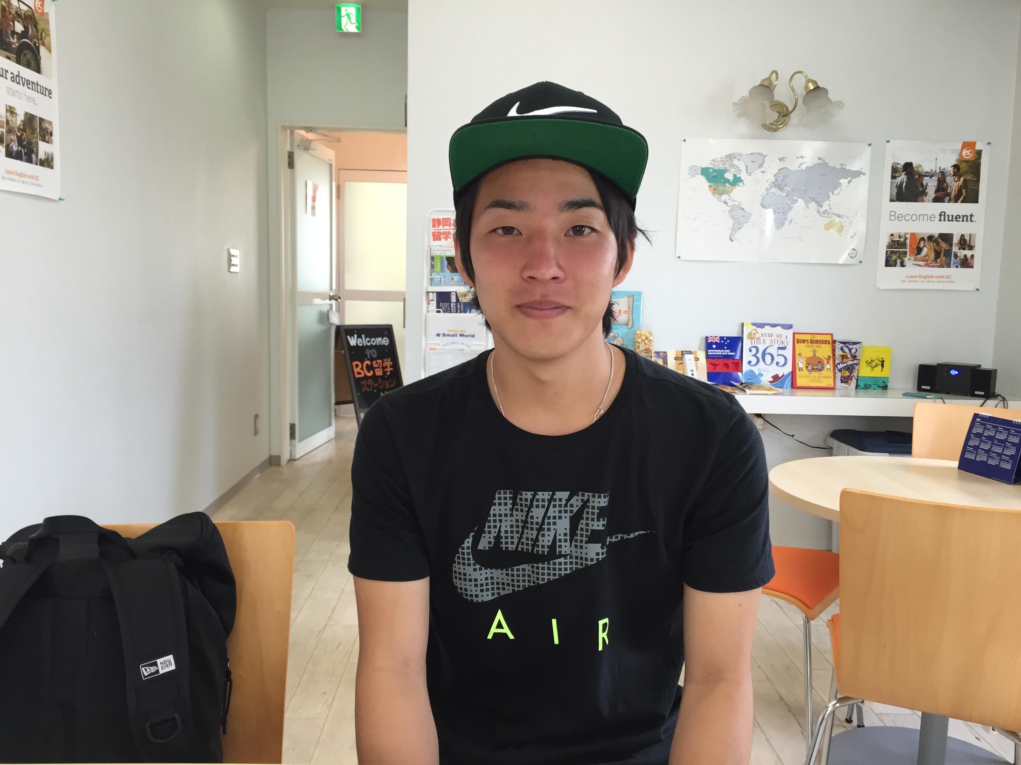 Kohei アメリカとカナダの2カ国留学!